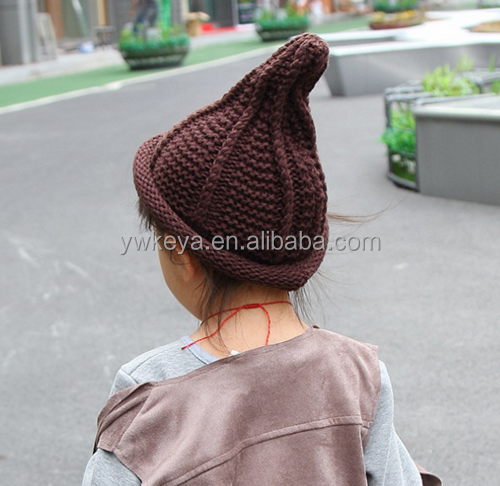 Factory Price Children's Outdoor Winter Warm Knit Hat,Unisex Kids Warm Wool Knitted Caps