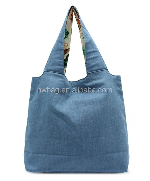2014 new Cotton Jean Hand Bag For Lady For Shopping