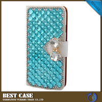 New style wallet leather case cover crystal case for samsung galaxy j5 2016