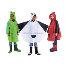 Waterproof Printed Adult Kids Plastic Reusable PVC Rain Poncho