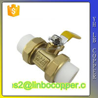 (2C-JELLY75) Low Prices PPR Double Union Brass Ball Valve Manufacturer