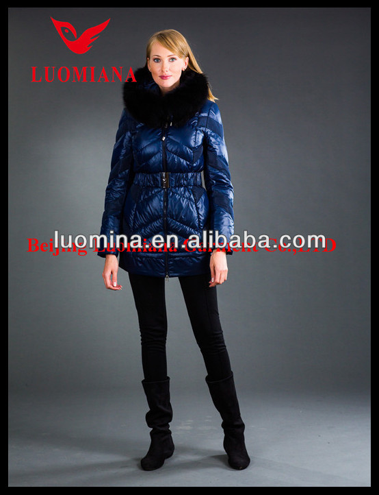 2014 Latest Real Fur High Quality Winter Shiny Fashion winter welding leather jacket