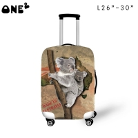 ONE2 design koala Australia style luggage protective vividly cover suitcase for students