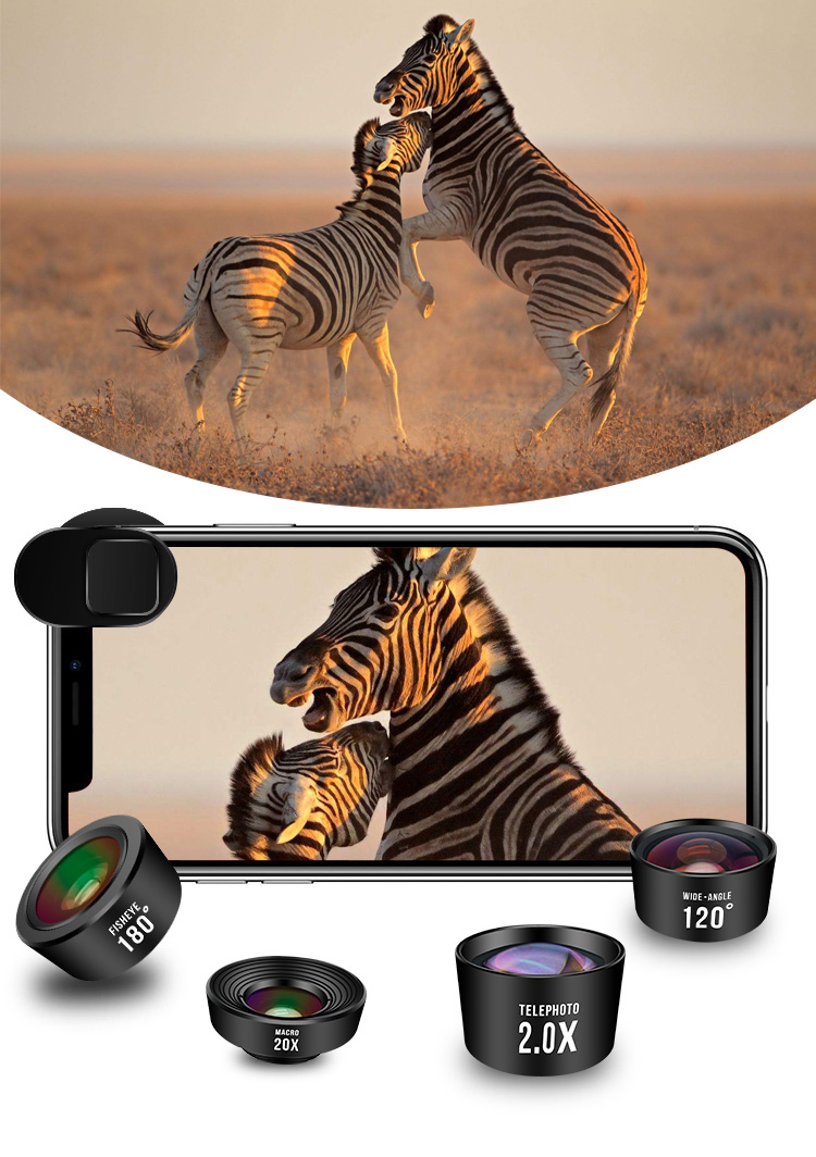 Cell Phone Snapshot Photograhy Gadgets Smartphone Lens Set 4 in 1 Kit