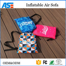Factory offer Portable fast inflatable air sofa lazy air bed laybag led lighting kit with good price