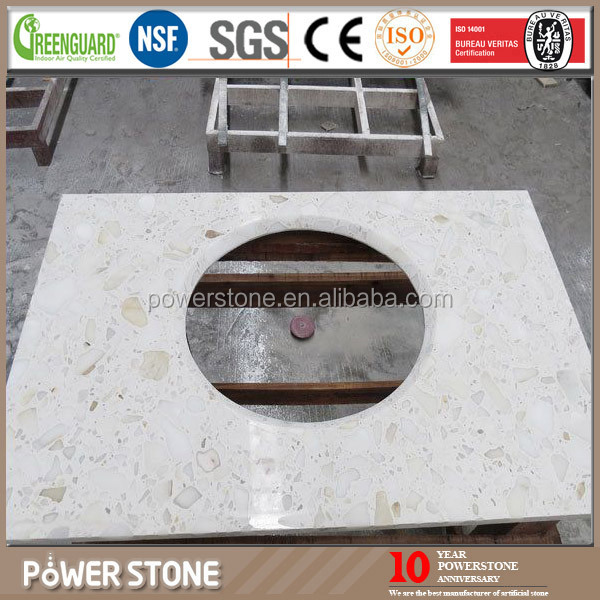 White Solid Surface Artificial Marble Bar Counter Design