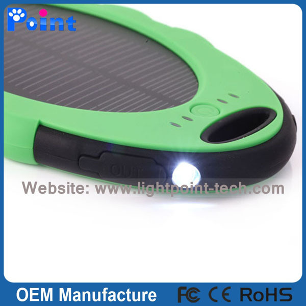 New style 5000mah solar power bank with key chain