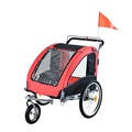 Pet Dog Bike Bicycle Trailer Stroller Jogger w/ Suspension with swivel front wheel(PT005)