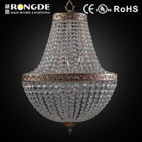 Fake antique silver foil crystal chandelier luxury
