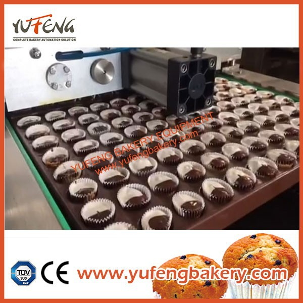 Automatic Bun and Cake Double Colors Chocolate Decorating and Icing Machine