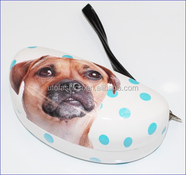 YT3060 2015 Lovely 3d dog pattern sunglasses case with handle