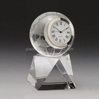 ECC-9011 heart clock wedding favor crystal clock