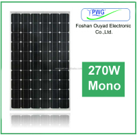 monocrystalline solar panel 270w for solar panel system, solar panel manufacturers in china