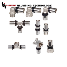 JH0691 metric pex pipe brass fittings press fitting copper crimp fittings
