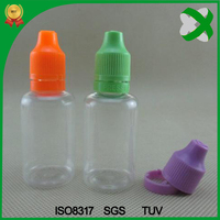 30ml plastic PET e-liquid bottle with tamper evident seal
