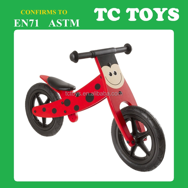 high quality popular wooden bicycle , wooden balance bike TC-BB002