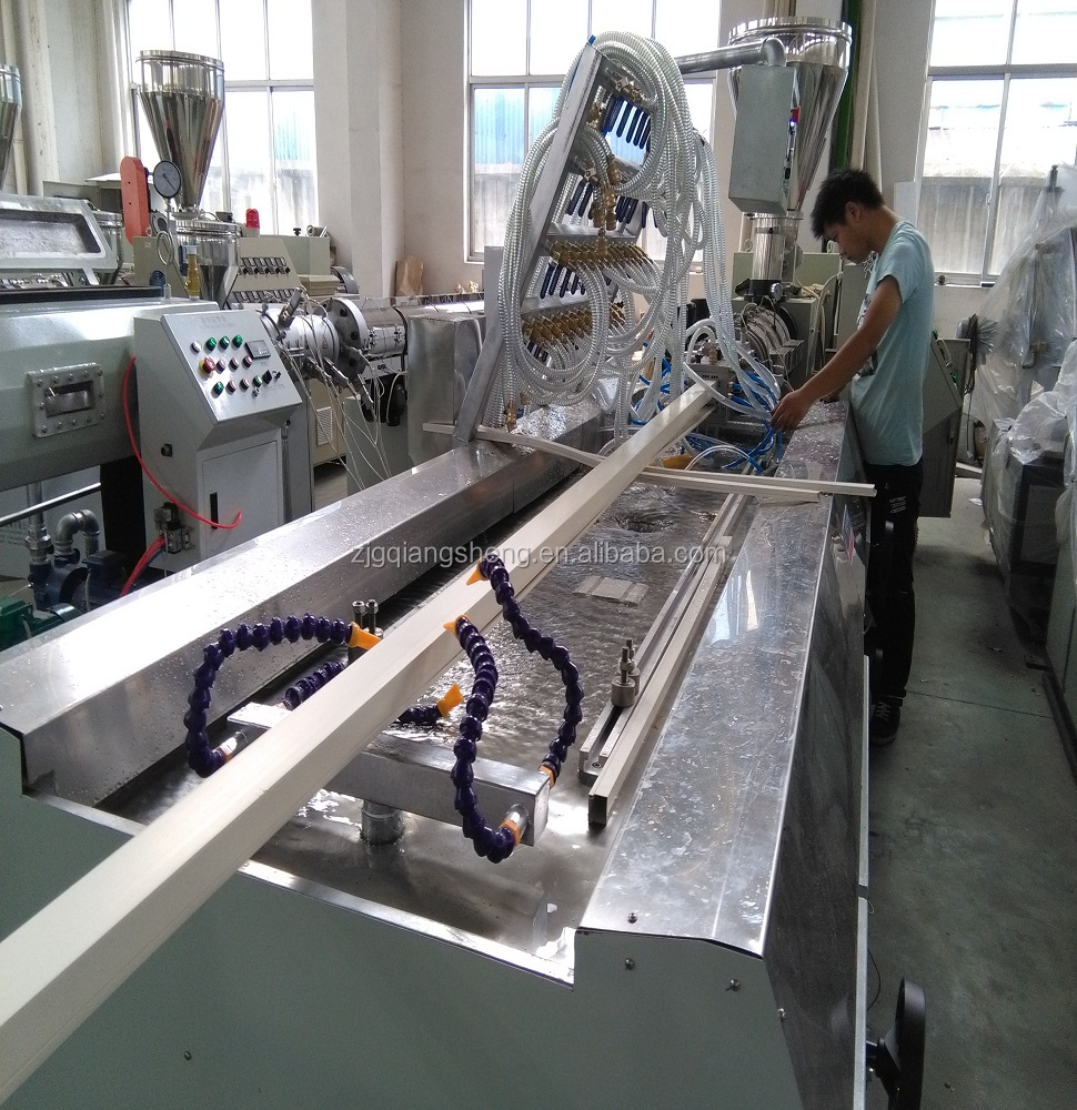 cost price plastic upvc Cabling Channel extrusion line , wpvc pvc window door floor extruder production machine
