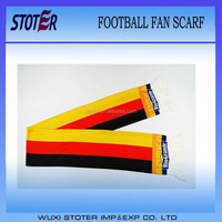 three colours football fan scarf