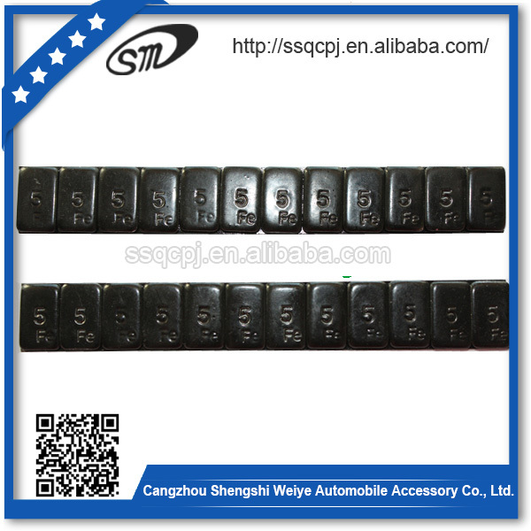 Iron Black powder coating sticker wheel balance weight/motorcycle wheel balance weight type wheel balancing weight