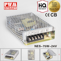 High efficiency 75 watt 24 volt led display screen driver NES-75-24 ac dc 75w 24v 3a led lighting switching power supply
