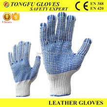 Polka Dots Gloves for Industrial Use/PVC Dotted Gloves