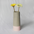 Painted Dipped Concrete Vase Tall Flower Vase