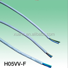 VDE types power cable H05VV-F 3G0.75,1.0,1.5,2.5,4.0MM2