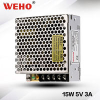 CE RoHS approved small size 15w 5v switch led power supply