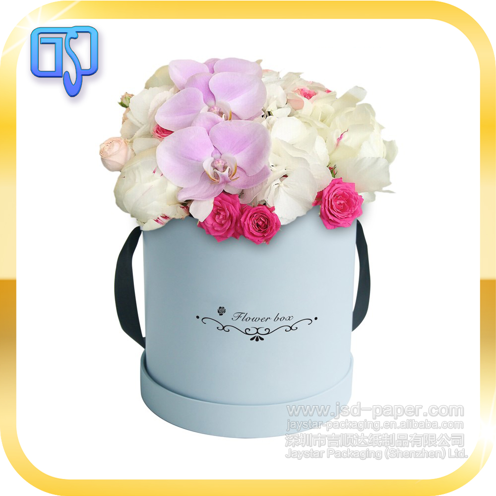 Custom made wholesale round shape paperboard flower gift box