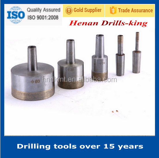 sintered cone shank 58mm diamond core drill bit for glass