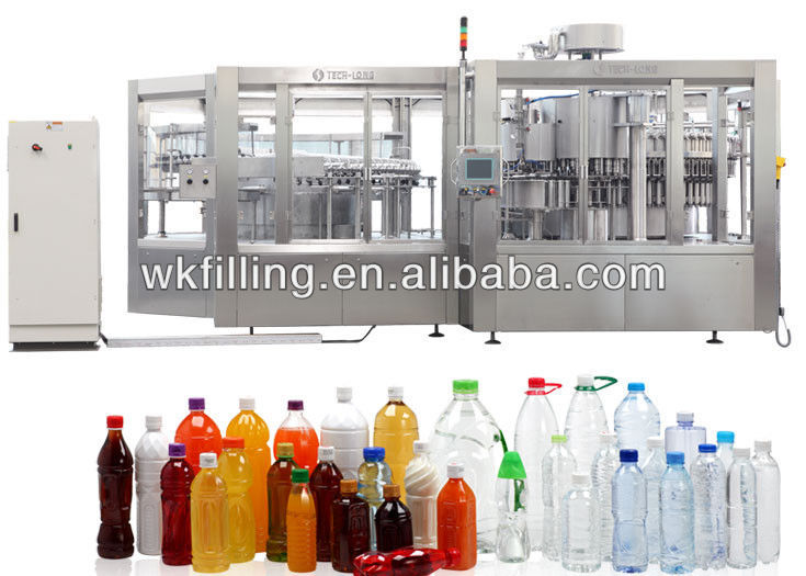PET bottle Apple/Orange/mango/watermelon juice filling plant machine