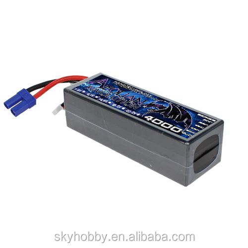 7.4v 4000mAH 2S1P 30C Dean plug hard case RC car lpo battery