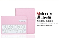 New arrival fashion bluetooth keyboard PU leather pink case for Ipad 2
