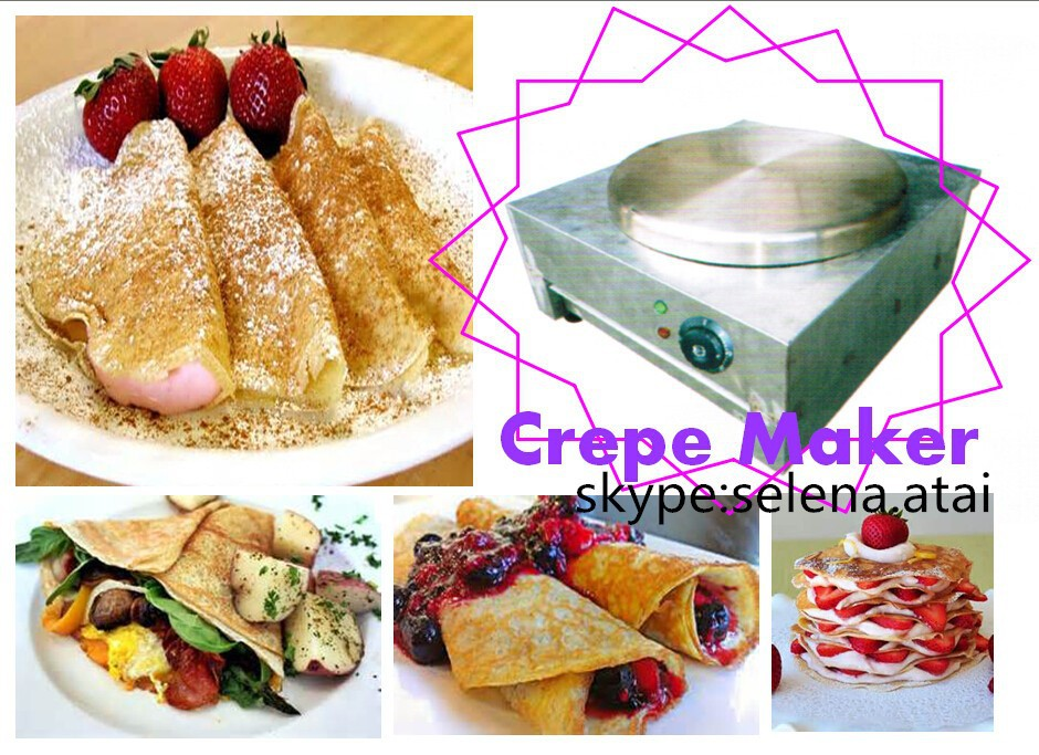 Electric Crepe Pancake Cake Maker Machine Oven Stove Griddle Pan