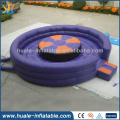 Purple inflatable gladiator game , Inflatable joust game