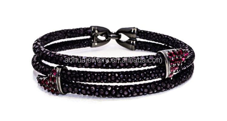 luxury stingray bracelet genuine stingray leather bracelet mens leather bracelet