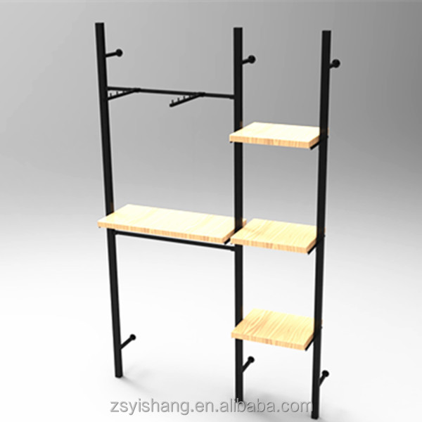 Portable Revolving Double Sides Metal Decorative Wall Display Shelves For Retail Shop With Yishang