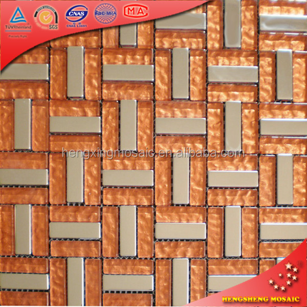 KB21 Backsplash Glass Shaped Floor And Glass Subway Tile