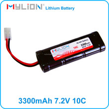 Rechargeable nimh battery 7.2v3300mah for rc car rc gun rc model from china factory