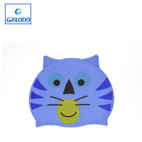 Blue Cat Model Silicone Swim Cap