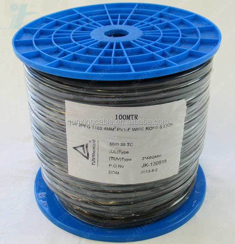 TUV Electrical Solar Wire Cables 10mm2 solar panel for power station 10mm2 solar pv cable