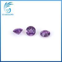 AAA quality roung brilliant cut natural amethyst gem stone