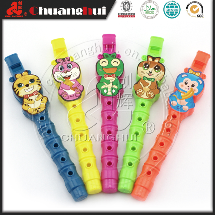 Toy Cartoon Flute / Small Plastic Flute Toy Candy Manufacturer