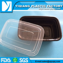 Stackable rectangular meal prep disposable plastic containers