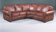 ITALIAN LEATHER CORNER SOFA CHAIR LEISURE AND COMFORT YLC1022 BROWN LEATHER