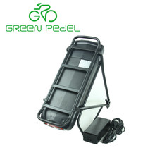 Greenpedel electric bicycle kit 36V 11Ah Samsung cell rear rack e bike battery