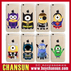 wholesale cell phone cute minion print soft tpu case for iphone 6