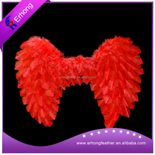 Red Detachable Goose Feather Wing