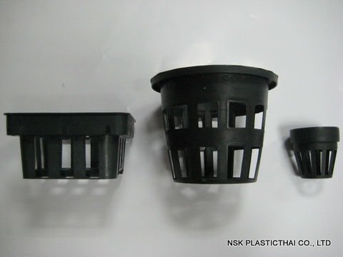 Recyclable Black Flower Plastic Pot and Basket for Orchid