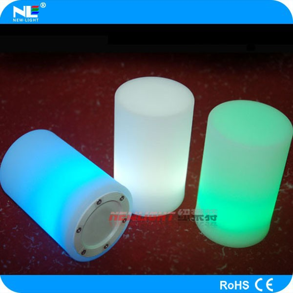 Alibaba changing-color remote control waterproof led decorative lamp ,small cylinder for indoor and outdoor